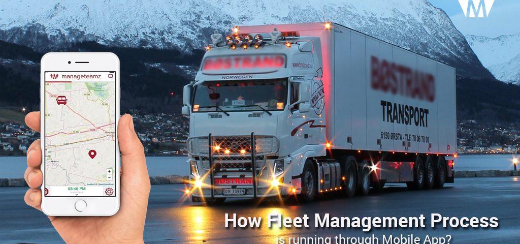 Fleet Management Process in Mobile App