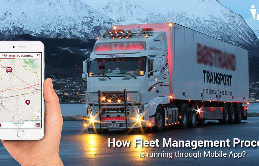 Fleet Management Process in Mobile App