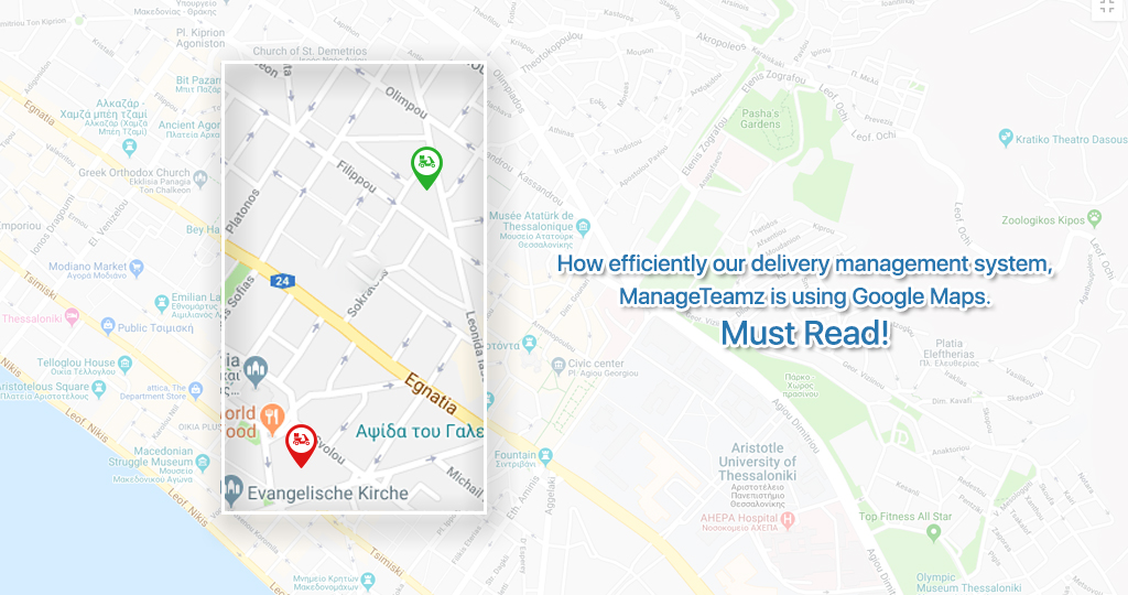 How efficiently our delivery management system, ManageTeamz is using Google Maps. Must Read!