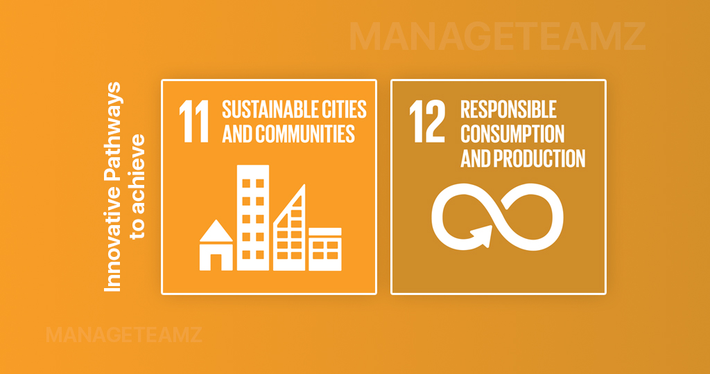 Innovative Pathways to achieve Responsible Consumption and Production for Creating Sustainable Cities and Communities by leveraging ManageTeamz